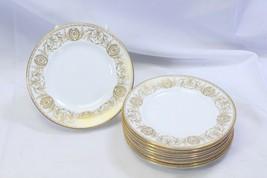 "Royal Worcester Pompadour Bread Dessert Plates 6"" Lot of 9 - $58.79"