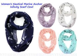 NYFASHION101® HOT! NEW! Women's Nautical Marine Anchor Print Infinity Sc... - $8.99