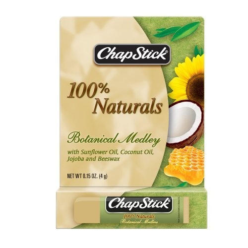 Primary image for ChapStick 100% Naturals Botanical Medley Lip Balm,.015 oz ( Pack of 1)