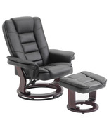 PU Leather Executive Leisure Recliner Chair Swivel Furniture w/ Ottoman ... - $189.99