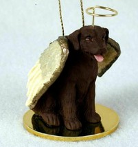 CHOCOLATE LAB LABRADOR ANGEL DOG CHRISTMAS ORNAMENT HOLIDAY Figurine Statue - $14.99