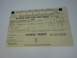 1936 NEW YORK STOCK EXCHANGE SECURITIES CHARGE TICKET 30128 - $20.78