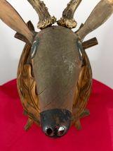 Antique 1900 Black Forest Hand Carved Wood German hunting deco design bauhaus image 6