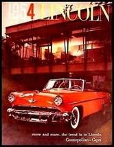 1954 Lincoln Deluxe Brochure Capri Cosmopolitan HUGE 54 - $26.68