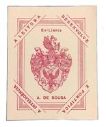 Ex Libris Exlibris Bookplate A. De Sousa A Leitura Desenvolve Pink - $29.69