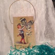 Greetings on St. Patrick's Day Shamrock Door Plaque - $9.00