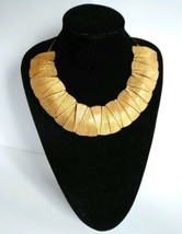 Frederick Mosell SIgned Retro Goldtone Runway Collar Necklace - $165.92