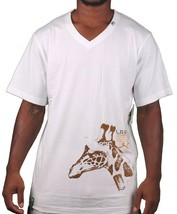 LRG ILL Denim Kids Feeding the Animals Giraffe V-Neck White T-Shirt NWT image 1