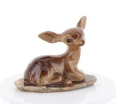 Hagen Renaker Miniature Tiny Deer Baby on Base Stepping Stones #2756