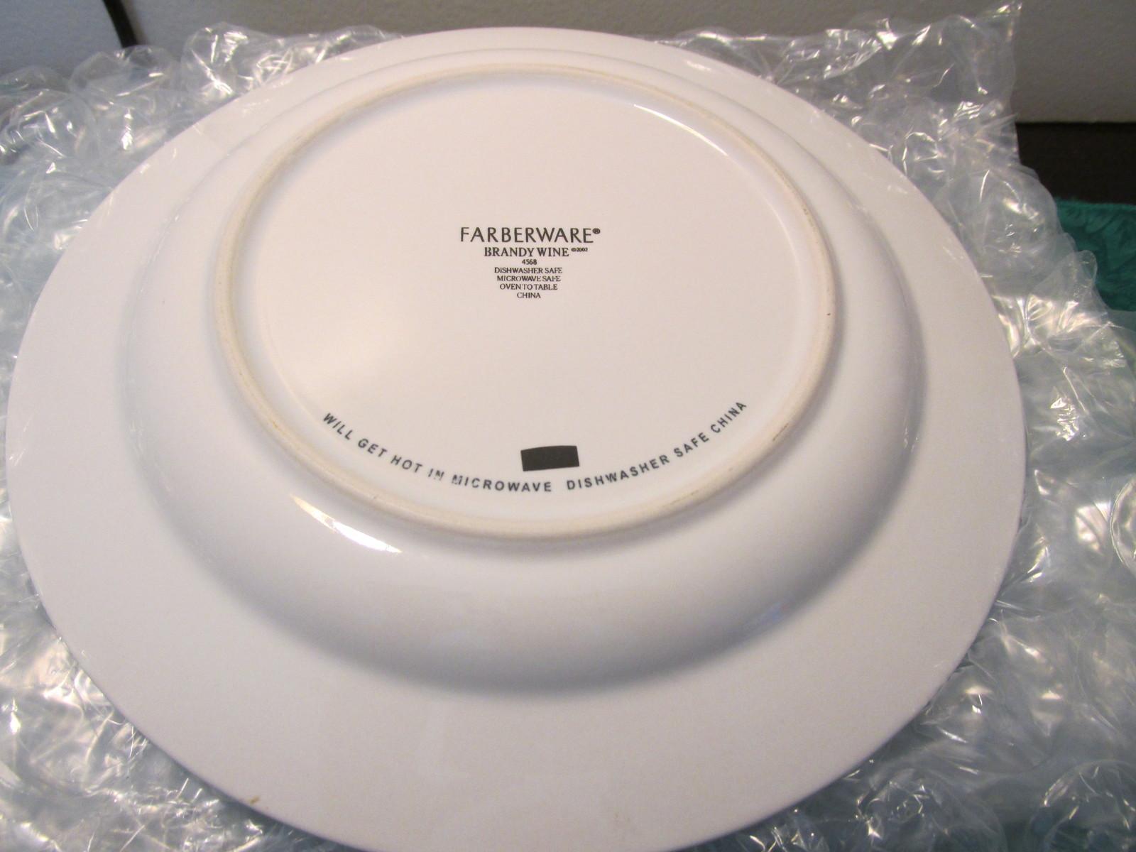 """Farberware Brandywine Salad Plates  -  Set Of Six 8 1/2"""" Salad Plates"""