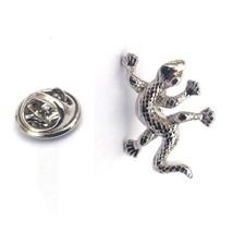Lizard Gecko silver Lapel Pin Badge / tie pin. in gift box enamel finished