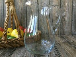 Clear Glass Water Pitcher by KROSNO Made in Poland - $18.39