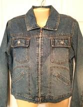 EXPRESS BLEUS Women's SMALL Denim Jean Jacket VINTAGE Blue jean - $23.53