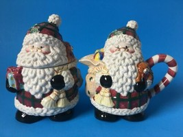 Santa Claus Sugar and Creamer Set for Christmas by Jay Imports - $16.95