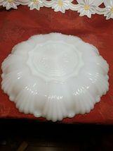 """VINTAGE Anchor Hocking Fire King Milk Glass GoldTrim Divided Serving Dish 9-1/2"""" image 5"""
