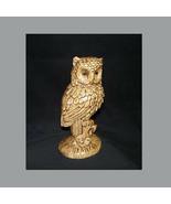 Vintage Mid-Century Perched Owl Figurine Ceramic - $22.50