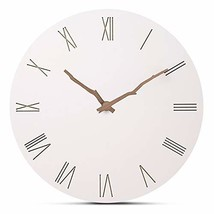 "FlorLife 12"" Vintage Roman Numeral Wall Clock, Simple European Style MDF... - $35.29"