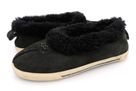 UGG Womens 5 Black Suede Rylan Slip On Flat Slippers Shoes EUR 35 - $29.99