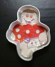 Wilton Cake Pan Boo Ghost Halloween 1988 Vintage Baking Mold 2105-1031 - $18.52