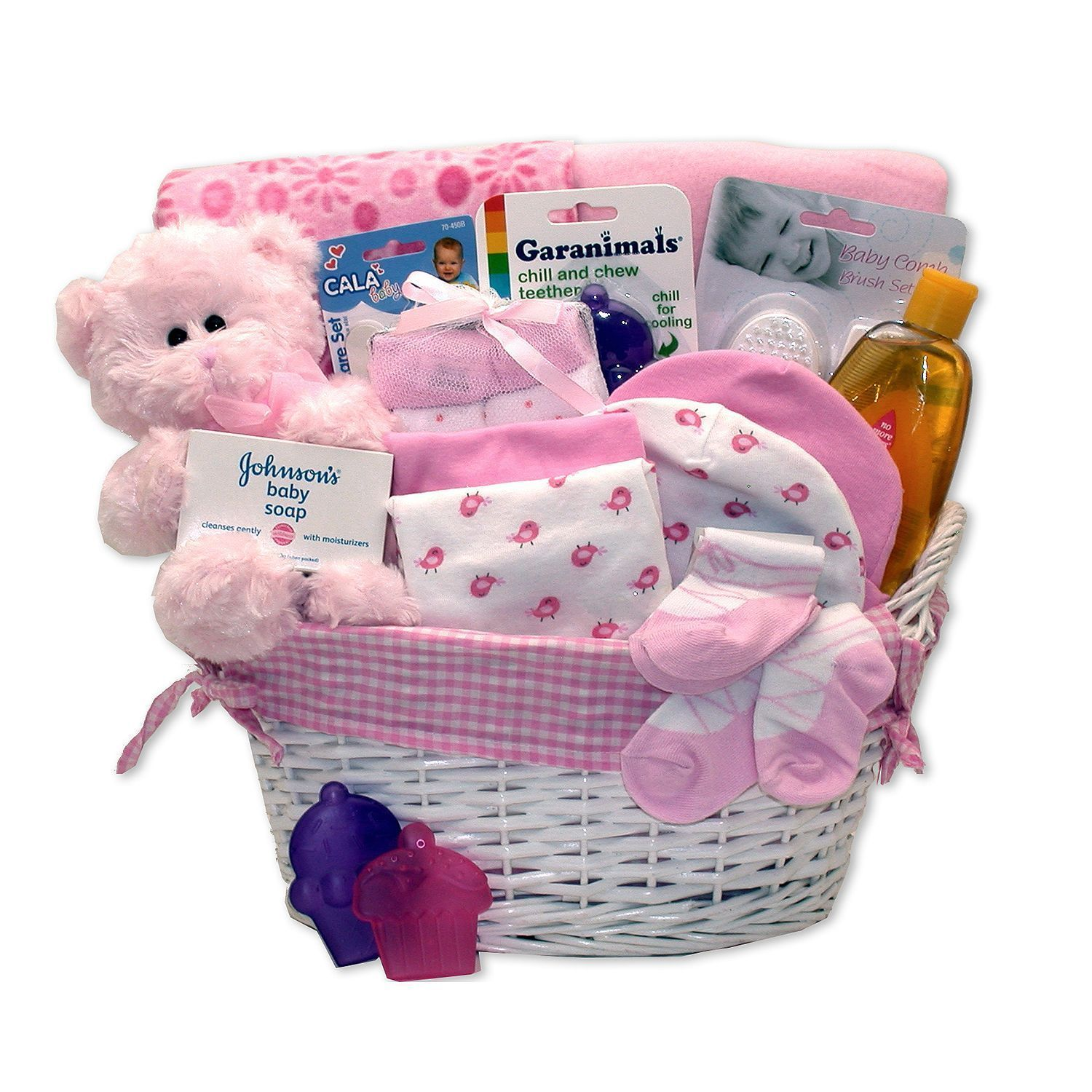 Simply Baby Necessities Gift Basket in Pink