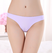 2017 Invisible Seamless Underwear Women Panties ThongsNylon Spandex Crotch Thong - $6.00