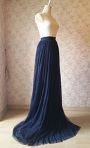 Navy Extra Long Tulle Skirt Wedding Full Maxi Wedding Bridesmaid Skirt Plus Size image 3