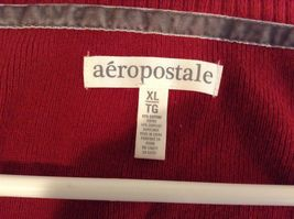 Aeropostale Red Button Up Cardigan Sz XL image 5