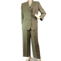 Tailor Made khaki Green Checked Jacket Blazer Pants Trousers Suit - $198.00