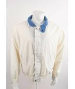 Vintage Members Only Mens Bomber Jacket Large White Cafe Racer Lightweig... - $49.49