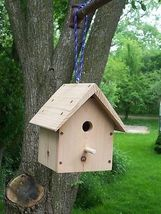 Wood-in-things.com Small Wren birdhouse,Box shapped,Cedar,bottom,Clean-out. - $19.99