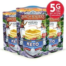 Keto Pancake & Waffle Mix by Birch Benders, Low-Carb, High Protein, Grain-free,