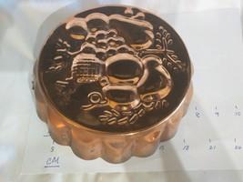 "Vintage Daewoo Copper Cake Jello Mold Kitchen Decor 7 1/2"" Fruit  Made I... - $26.72"
