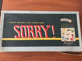 Parker Brothers Sorry Game Vintage ©1954, 1958 Made In USA - $20.56