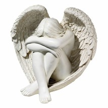 NEW Angel Garden Statue Outdoor Yard Decor Sitting In Memory Praying 14 ... - $84.14