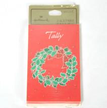 Hallmark Christmas Wreath Themed Progressive Bridge Tallies 12 Count - $8.99