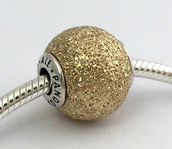 Authentic Pandora Essence Sensitivity Silver &14k Gold Bead Charm 796051... - $161.49
