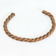 Vintage Solid Copper Braided Twisted Cuff Bracelet Women C - $18.62