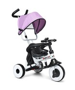 4-in-1 Kids Baby Stroller Tricycle Detachable Learning Toy Bike-Pink - $99.65