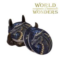 4pc Dragon Claw Coaster Set GOT Gothic Home Decor Ancient Guardians - $19.75