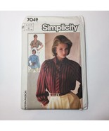 Simplicity 7049 Size 12 14 16 Misses' Shirts Button Down - $11.64