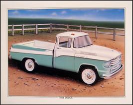 1958 Dodge Sweptside Pickup Orig Art Print Lithograph - $20.60
