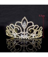 Sparkling Multicolor Crystal Big Wedding Crown Comb Rhinestones Headband... - $15.76