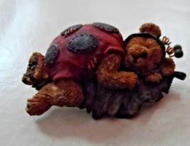 Boyds Bear Bearwear sleeping ladybug bear Pin - $5.25