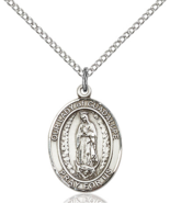 Our Lady of Guadalupe 3/4 x 1/2 Inch Sterling Silver Medal - $59.99