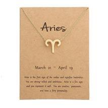 Women's 12 Zodiac Pendant Necklace - $11.49+