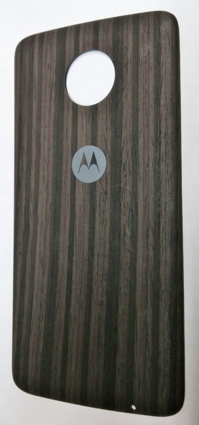 Primary image for OEM Motorola Moto Z Force Mod Style Shell Back Cover Door - Charcoal Ashwood