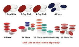 Glass Food Storage Dish w Lid, Microwave Dishwasher Safe, Durable & High Quality - $12.21+