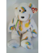 "2002 Ty Beanie Buddy Cheery Teddy Bear Rainbow Plush Stuffed Animal Doll 14"""
