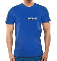 EvoSport Blue 100% Cotton T-Shirt Small - $12.99