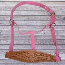 Abetta Bronc Nose Nylon Halter Pink Horse Size image 1